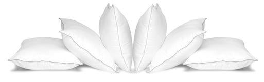 Witte hoofdkussens. Geïsoleerds Stock Foto's