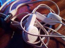 Witte hoofdtelefoons Stock Afbeelding