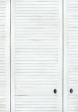 Witte houten deur Stock Foto