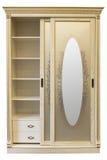 Witte houten garderobe Royalty-vrije Stock Afbeeldingen