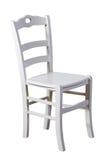 Witte houten geïsoleerde stoel Stock Foto