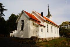 Witte houten kerkstole, Telemark, Noorwegen Royalty-vrije Stock Foto