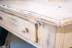 Witte houten lade Stock Foto's