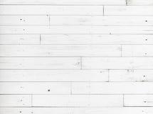 Witte houten muur, gedetailleerde textuur als achtergrond Royalty-vrije Stock Foto's