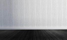 Witte houten muurachtergrond met het eenvoudige stijl-3d teruggeven Stock Foto