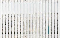 Witte houten omheining Royalty-vrije Stock Fotografie