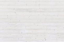 Witte houten planktextuur als achtergrond Royalty-vrije Stock Afbeeldingen