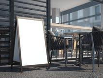 Witte houten raad voor restaurantmenu het 3d teruggeven Royalty-vrije Stock Fotografie