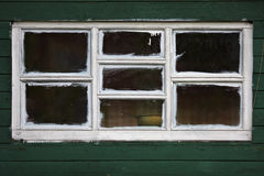 Witte houten vensters Stock Foto's