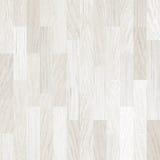 Witte houten vloerparket of bevloering Stock Fotografie