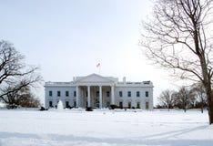 Witte Huis in de Winter Royalty-vrije Stock Foto's