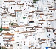 Witte huizen het Spaans Royalty-vrije Stock Foto