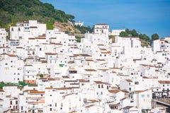 Witte huizen het Spaans Stock Foto