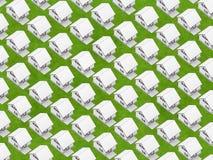Witte huizen op gras Royalty-vrije Stock Fotografie