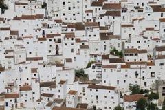 Witte huizen van Casares Stock Foto's