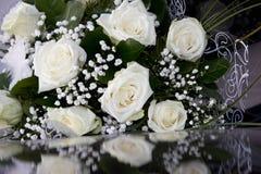 Witte huwelijksbloemen Royalty-vrije Stock Foto's