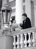 Witte huwelijksbruid en bruidegom Royalty-vrije Stock Fotografie
