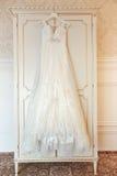 Witte huwelijkskleding Royalty-vrije Stock Afbeelding