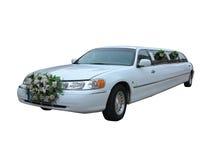 Witte huwelijkslimousine voor beroemdheden en speciale gebeurtenissenisola Stock Afbeeldingen