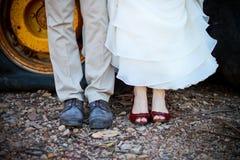 Witte huwelijksschoenen Royalty-vrije Stock Foto