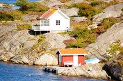 Witte hyte en Noordzee in Noorwegen Stock Afbeelding