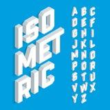 Witte isometrische 3d doopvont Stock Afbeeldingen