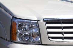 Witte jeep Royalty-vrije Stock Afbeeldingen
