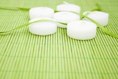 Witte kaarsen stock fotografie