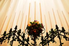 Witte kaarsen royalty-vrije stock fotografie