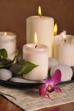 Witte kaarsen Royalty-vrije Stock Foto's