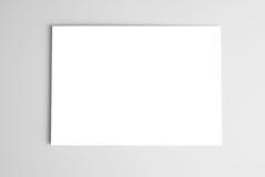 Witte kaart over grijze achtergrond Royalty-vrije Stock Afbeeldingen