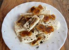 Witte kaas met fig stock foto