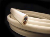 Witte kabel Stock Afbeelding