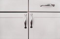 Witte Kabinetten Stock Afbeeldingen