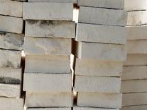 Witte Kalksteenbakstenen Stock Fotografie
