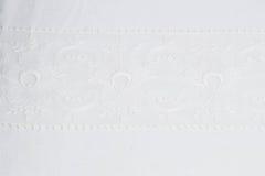 Witte kantachtergrond Stock Foto