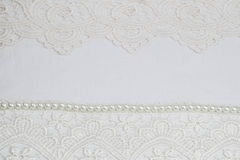 Witte kantachtergrond Stock Foto's