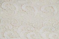 Witte kantachtergrond voor huwelijk Royalty-vrije Stock Fotografie