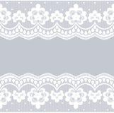 Witte kantgrenzen Royalty-vrije Stock Fotografie