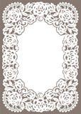 Witte Kantkaart Stock Afbeeldingen