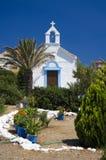 Witte Kapel het Grieks Stock Afbeeldingen