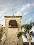 Witte Kapel Laag Angel View Stock Afbeeldingen