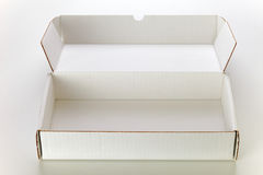 Witte kartondoos royalty-vrije stock foto