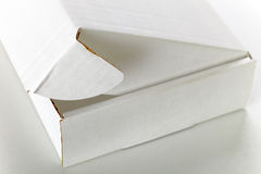 Witte kartondoos royalty-vrije stock foto's