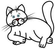 Witte Kat Royalty-vrije Illustratie