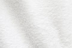 Witte katoenen handdoek achtergrondfototextuur Royalty-vrije Stock Fotografie
