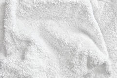 Witte Katoenen Handdoek Terry Cloth Texture stock foto's