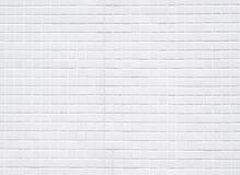 Witte keramische tegelsmuur Royalty-vrije Stock Afbeeldingen