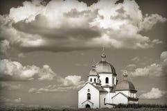 Witte kerk Royalty-vrije Stock Foto's