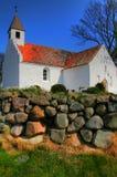 Witte kerk Stock Afbeeldingen